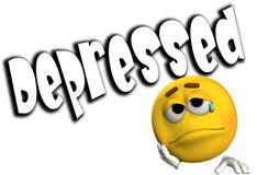 Deprimido stock de ilustración