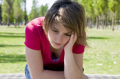 Deprimido Foto de Stock