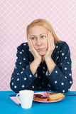 Deprimierende Frau Lizenzfreies Stockfoto