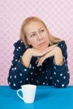 Deprimierende Frau Lizenzfreie Stockbilder