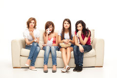 Deprimierende Frauen Lizenzfreie Stockfotos
