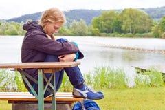 Deprimierende, junge Frau Lizenzfreies Stockbild