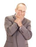Deprimierender Geschäftsmann Lizenzfreie Stockfotos