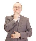 Deprimierender Geschäftsmann Lizenzfreie Stockbilder