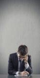 Deprimierender Job Stockfotografie