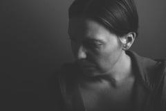 Deprimierendes Frauenporträt Stockfotografie