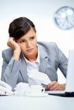 Deprimierendes Geschäft Lizenzfreie Stockfotos