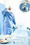 Deprimiert/sorgte sich Chirurgen Lizenzfreies Stockfoto