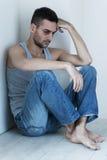 Deprimiert und hoffnungslos. Stockfotos