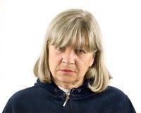 Deprimierte ältere Frau Lizenzfreies Stockbild