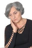 Deprimierte ältere Frau Lizenzfreies Stockfoto