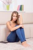 Deprimierte Frau. Lizenzfreie Stockbilder
