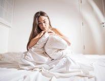 Deprimierte Frau der Schlaflosigkeit Lizenzfreies Stockfoto