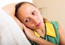 Deprimierte Frau von mittlerem Alter Lizenzfreies Stockfoto