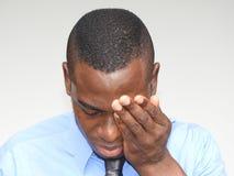 Deprimierte Geschäfts-Person Lizenzfreies Stockfoto