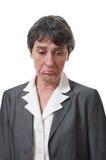Deprimierte Geschäftsfrau Stockbild