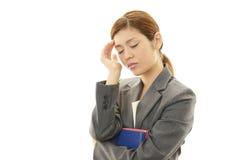 Deprimierte Geschäftsfrau.? Lizenzfreie Stockfotos