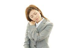 Deprimierte Geschäftsfrau. Lizenzfreie Stockfotos