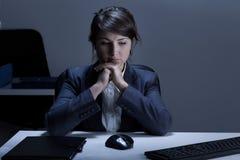 Deprimierte Geschäftsfrau Stockfotografie
