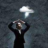 Deprimierte Geschäftsfrau Lizenzfreies Stockfoto