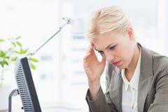 Deprimierte Geschäftsfrau Stockbilder