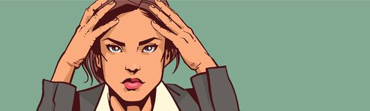 Deprimierte Geschäftsfrau-Porträt-Nahaufnahme-überarbeitete Geschäftsfrau Tired Or Upset über Hintergrund mit Kopien-Raum Stockfotos