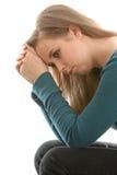 Deprimierte Jugendfrau Lizenzfreie Stockfotografie