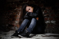 Deprimierte Jugendliche Stockbild