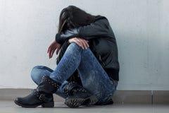 Deprimierte Jugendliche Stockbilder