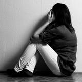 Deprimiertes tenage Mädchen Stockfoto