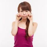 Deprimierte junge asiatische Frau Stockbilder