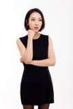 Deprimierte junge asiatische Frau Lizenzfreie Stockbilder