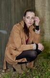 Deprimierte junge Frau Stockfotos