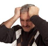 Deprimierte Mannschuld des Druckproblems Stockbilder