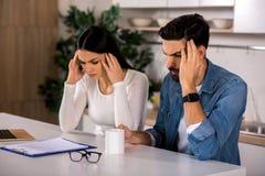 Deprimierte Paare, die Probleme haben Lizenzfreies Stockfoto