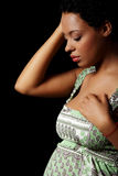 Deprimierte schwangere Frau Stockfotografie