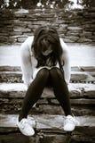 Deprimierte Stimmung Stockfoto
