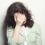 Deprimierte, traurige Frau Stockfotografie