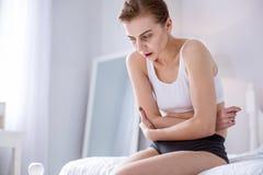 Deprimierte traurige Frauengefühlsschmerz Stockfotografie