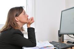 Deprimierte und müde Geschäftsperson Lizenzfreie Stockbilder
