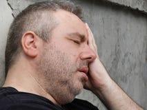 Deprimierte weiße Person Stockfotografie