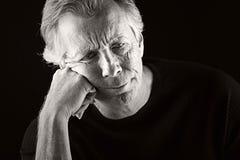 Deprimierter älterer Mann Stockbilder
