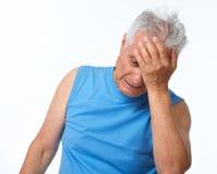 Deprimierter älterer Mann Stockfotografie
