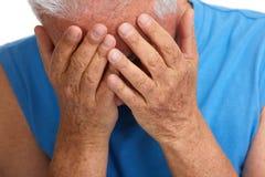 Deprimierter älterer Mann Lizenzfreies Stockbild