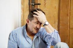 Deprimierter alter Mann Lizenzfreies Stockfoto