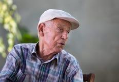Deprimierter alter Mann Lizenzfreies Stockbild