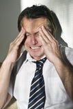 Deprimierter atressed Geschäftsmann Lizenzfreies Stockfoto