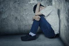 Deprimierter Drogenbenutzer Stockbilder