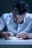 Deprimierter Ehemann, der Probleme hat Lizenzfreies Stockfoto