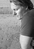 Deprimierter einsamer Mann Stockbilder
